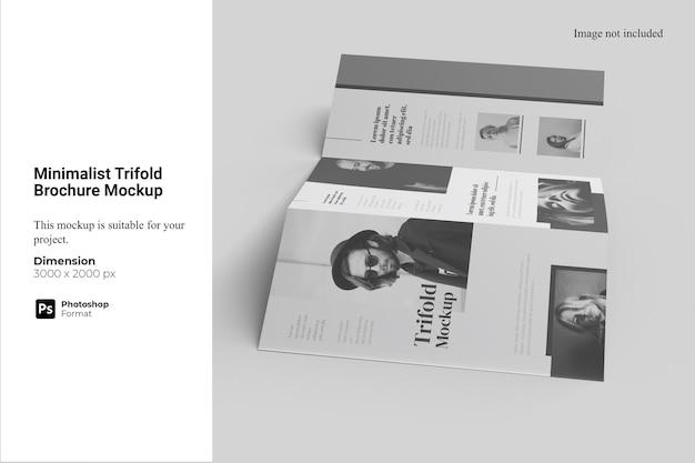 Minimalistische driebladige brochuremodel