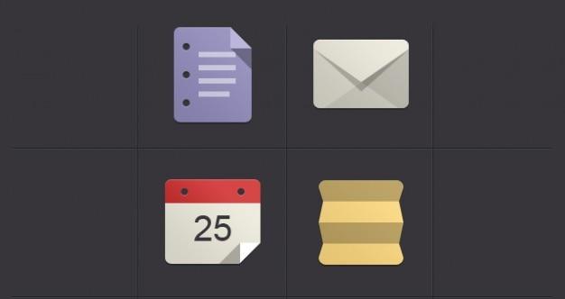 Minimalistische flat icon set