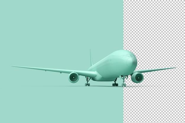 Minimalistische illustratie van passagiersvliegtuig