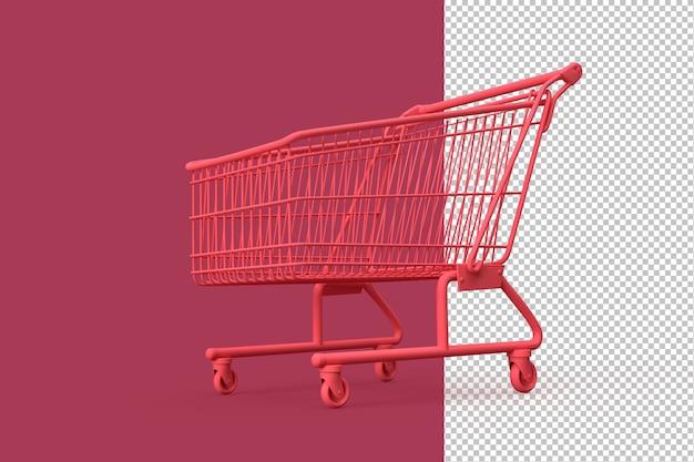 Minimalistische illustratie van winkelwagen