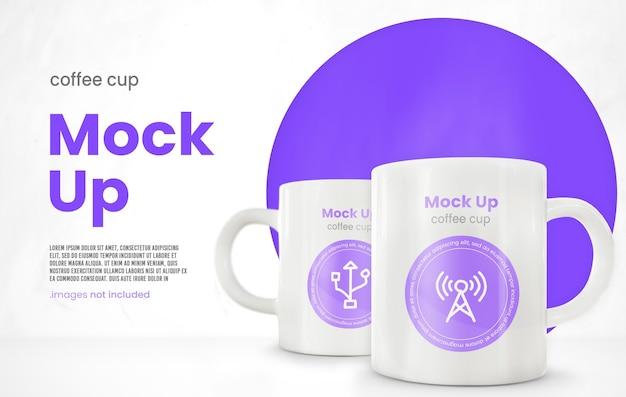 Minimalistische koffiemok mockup Premium Psd