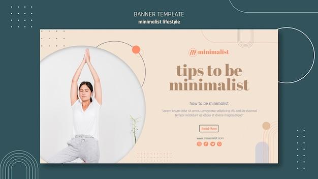 Minimalistische levensstijl horizontale banner