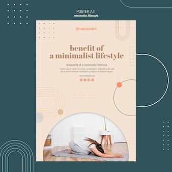 Minimalistische levensstijl poster sjabloon
