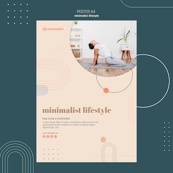 Minimalistische levensstijl poster stijl