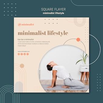 Minimalistische levensstijl vierkante flyerstijl
