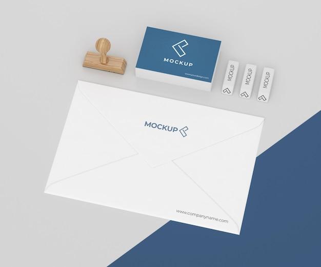 Minimalistische mock-up briefpapiersamenstelling
