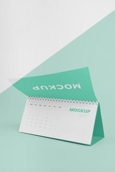 Minimalistische mock-up kalendersamenstelling