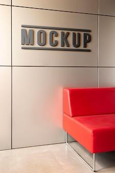 Minimalistische mock-up voor bedrijfsbranding