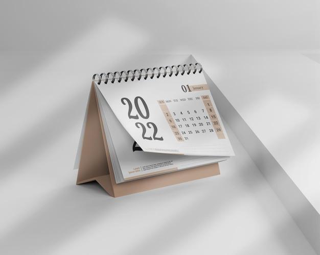 Minimalistische mockup 2022 kalendersamenstelling