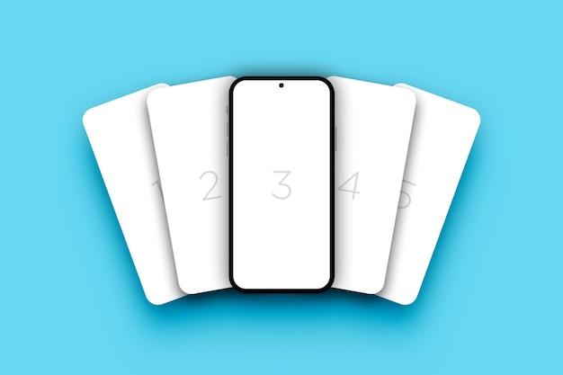 Minimalistische mockup voor smartphoneschermen