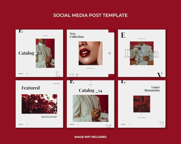 Minimalistische postsjabloon voor sociale media