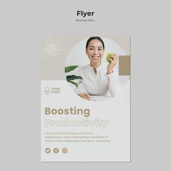 Minimalistische sjabloon voor office-flyer