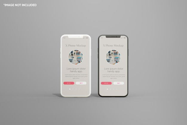 Minimalistische smartphone klei mockup