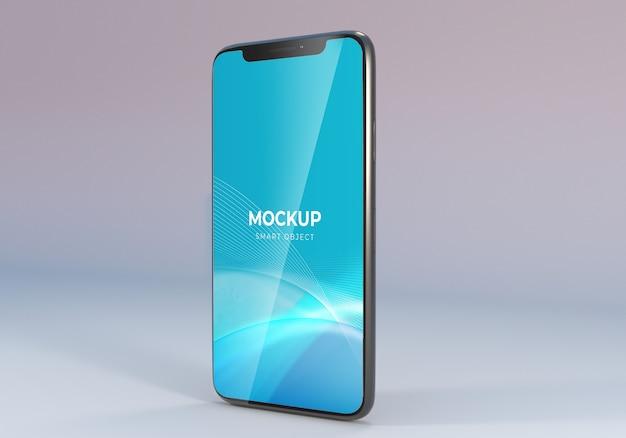 Minimalistische smartphone-mockup