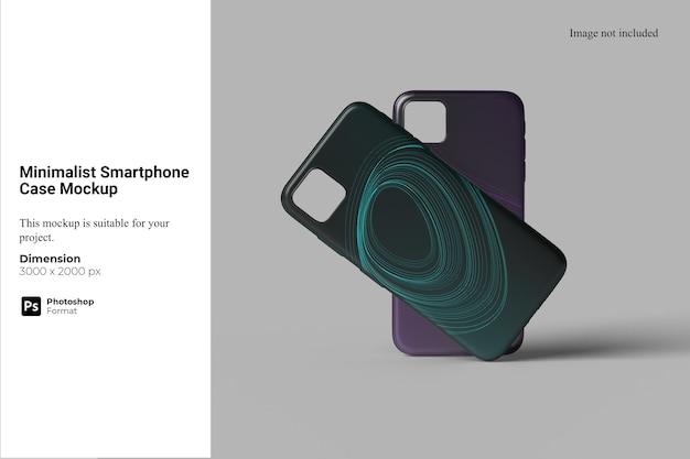 Minimalistische smartphonehoes mockup