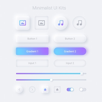 Minimalistische ui web- en apps-weergave