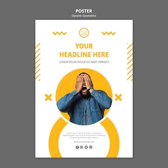 Minimalistische zakelijke poster sjabloon