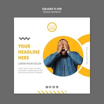 Minimalistische zakelijke vierkante flyer-sjabloon