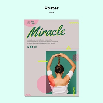 Mirakel en schoonheid poster sjabloon