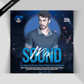 Mix sound party flyer