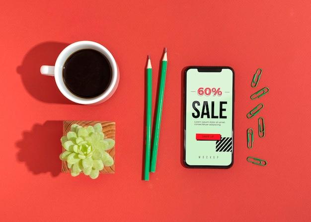 Mobiel met verkoop