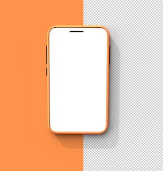 Mobiel mockup transparant psd-bestand.