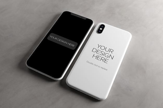 Mobiel scherm en hoesje mock-up