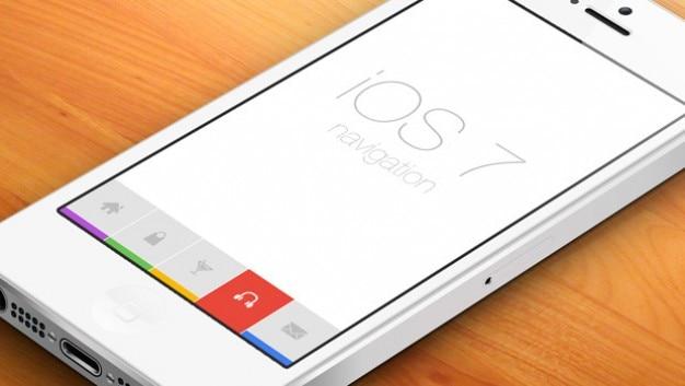 Mobiele platte ontwerp met iconische toetsen