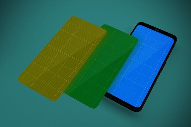 Mobiele schermen mockup