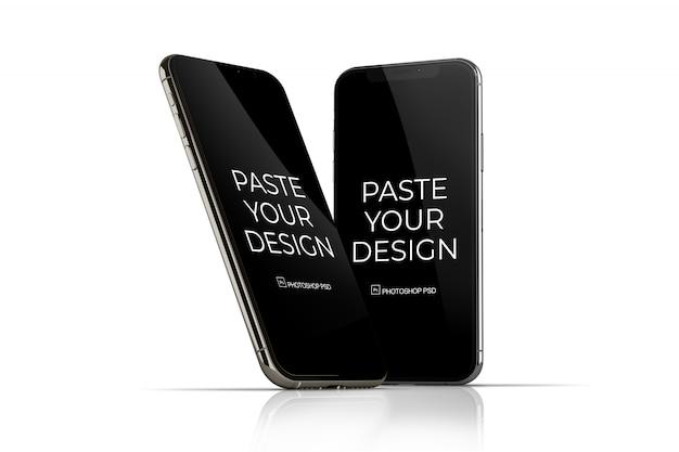 Mobiele telefoon met mockup met aanraakscherm