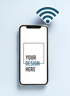 Mobiele telefoon met wifi-pictogram