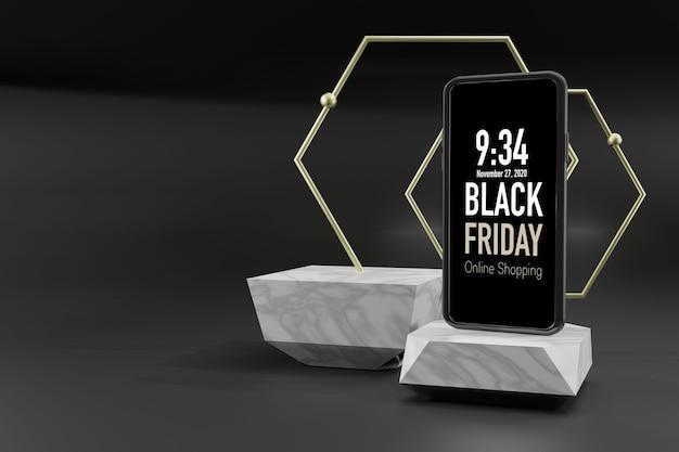 Mobiele telefoon mockup 3d-rendering
