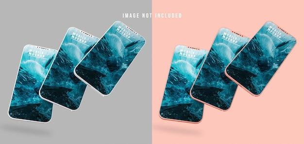Mobiele telefoon mockup design psd