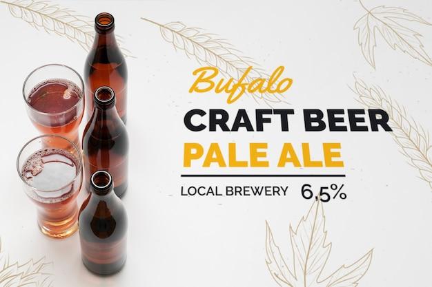 Mock-up ambachtelijke bier in glazen op tafel