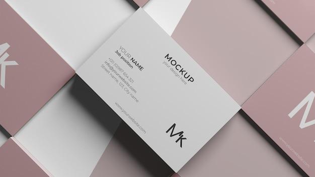 Mock-up arrangement voor visitekaartjes