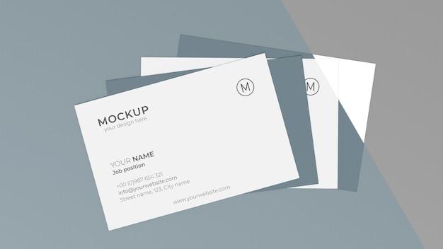 Mock-up assortiment voor visitekaartjes