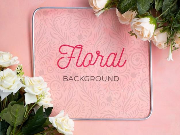 Mock-up bloeiende bloemen boeket