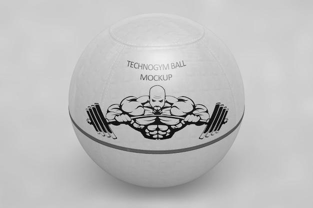 Mock up de bola de deporte