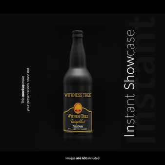Mock up de botella negra