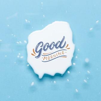 Mock-up buongiorno messaggio