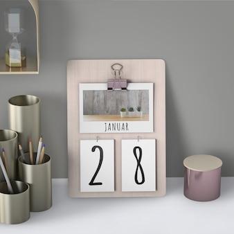 Mock up de calendario dibujado