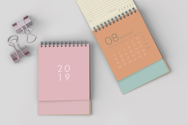 Mock up de calendario dibujado