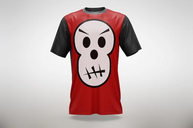 Mock up de camiseta roja