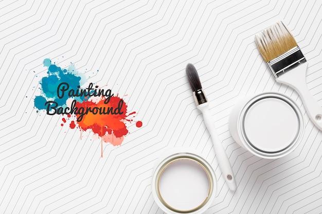 Mock-up colorato concetto di pittura