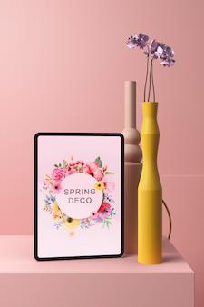 Mock-up concept van het lentedeco