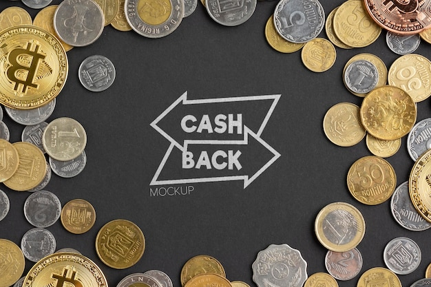 Mock-up concept voor cashback