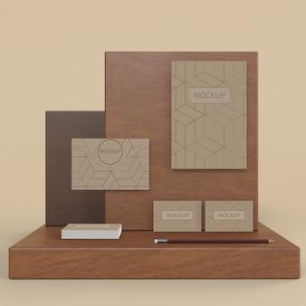 Mock-up concetto di marchio elegante