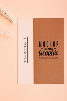 Mock-up creatief grafisch ontwerp bovenaanzicht
