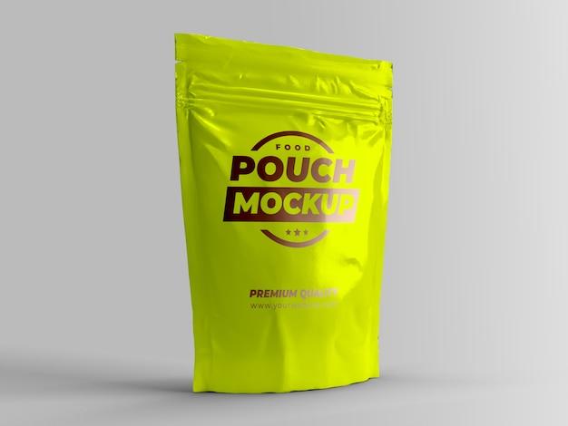 Mock-up d'imballaggio del sacchetto dell'alimento