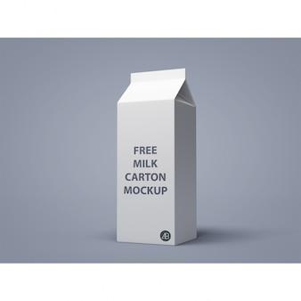 Mock up de packaging de leche